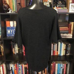BCBGMaxAzria Sweaters - BCBGMaxAzria Grey Short Sleeve Sweater